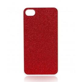 Coque rouge paillettes iPhone 4/4S