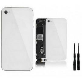 Vitre arrière blanche pour iPhone 4 + Outils