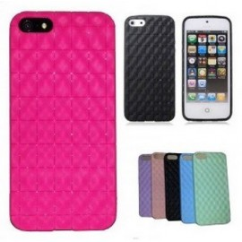 Housse silicone damier pour iPhone 5/5S/SE