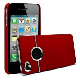 Coque chrome rouge iPhone 4/4s