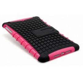 Coque antichoc noire et rose iPad Mini 1/2/3