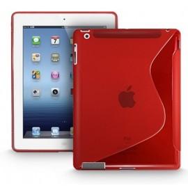 Coque s-line rouge iPad 2 / 3 / 4