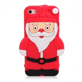 Coque silicone iPhone 5/5S/SE santa Claus/ Noël
