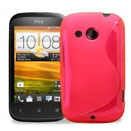 Coque silicone S-Line HTC Desire S rose