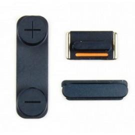 Pack 3 boutons noir pour iPhone 5