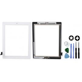 Vitre tactile complète blanche pour iPad 2