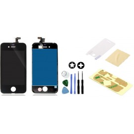 Vitre tactile iPhone 4 avec écran LCD sur chassis + outils