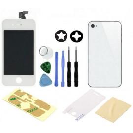 Ecran avant + vitre arrière blanc iPhone 4S