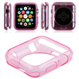 Coque silicone Rose Apple Watch 38mm