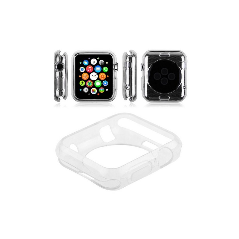coque en silicone transparente apple watch 38mm tout pour phone. Black Bedroom Furniture Sets. Home Design Ideas