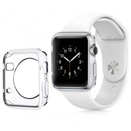 Coque silicone Apple Watch 42mm Transparent