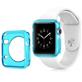 Coque silicone Apple Watch 42mm Bleu