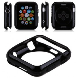 Coque silicone Apple Watch 42mm Noir