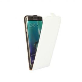 Etui cuir à clapet Samsung Galaxy S6 Edge Blanc
