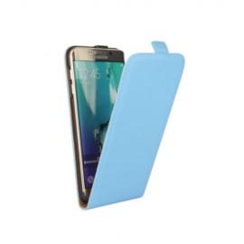 Etui cuir à clapet Samsung Galaxy S6 Edge Bleu ciel