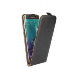 Etui cuir à clapet Samsung Galaxy S6 Edge Noir