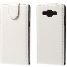 Etui cuir à clapet Samsung Galaxy A5 Blanc