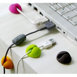 Lot de 6 mini support câble USB