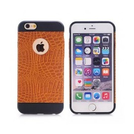 Coque silicone Croco iPhone 6 Plus / 6s Plus : Marron clair