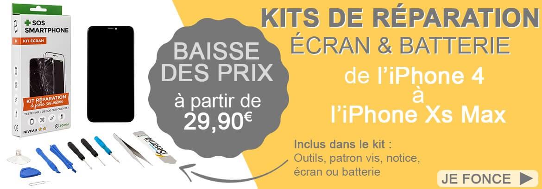 Kits réparation écran & batterie